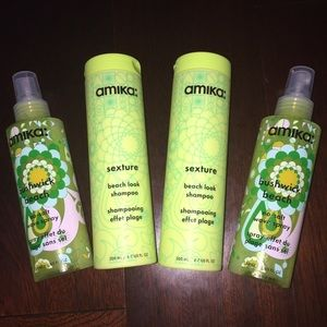 NEW Amika Hair Beach Bundle - Shampoo & Wave Spray